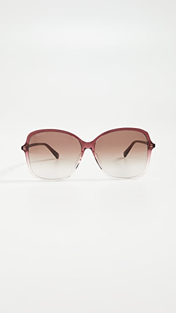 Gucci Ultralight Acetate Square Sunglasses