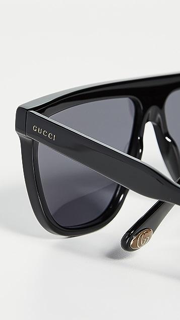 Gucci Guillochet Plaque 太阳镜