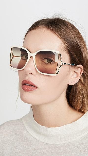 Gucci Feminine Fork Square Sunglasses