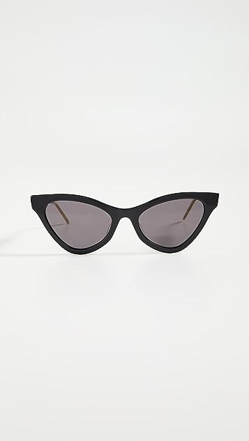Gucci 精美网眼猫眼太阳镜