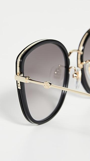 Gucci Web Block Sunglasses