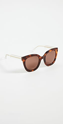 Gucci - Anima Décor Square Sunglasses
