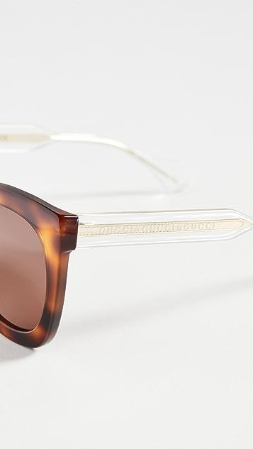 Gucci Anima Décor 方框太阳镜