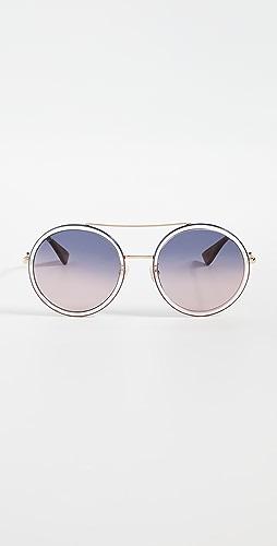 Gucci - Urban Web Round Sunglasses