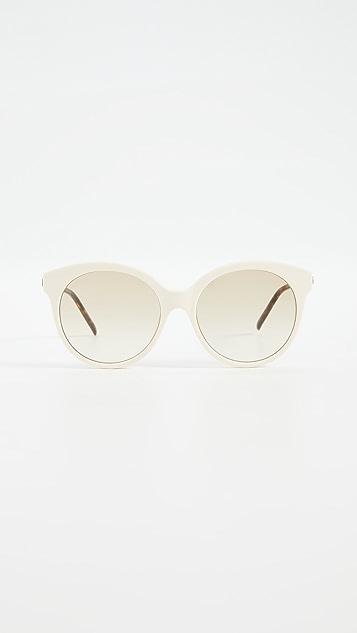 Gucci 竹纹圆形太阳镜