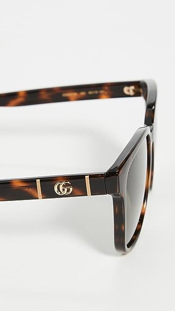 Gucci Logo Classic Wayfarer 太阳镜