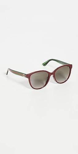 Gucci - Pop Web Soft Cat Eye Sunglasses