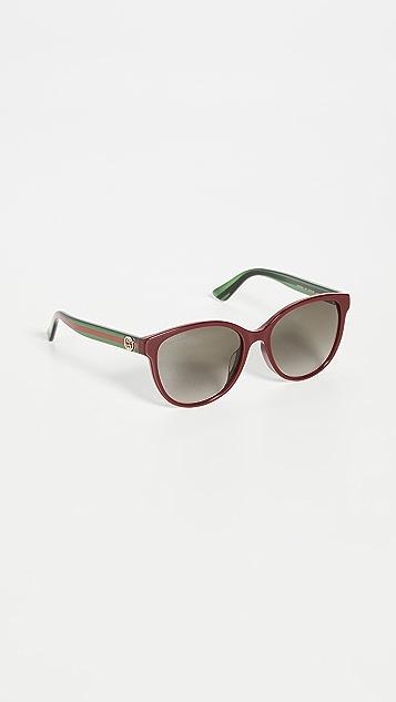 Gucci Pop Web Soft Cat Eye Sunglasses