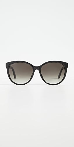 Gucci - 徽标柔软猫眼太阳镜