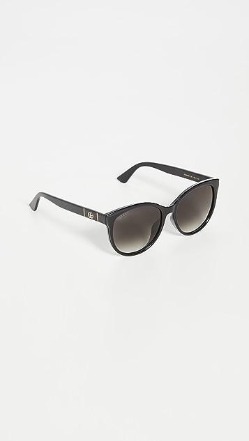 Gucci 徽标柔软猫眼太阳镜