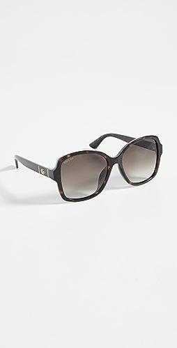 Gucci - Logo Oversized Acetate Sunglasses