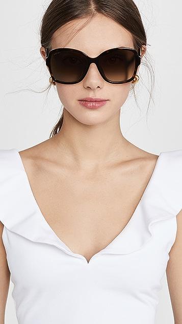 Gucci Logo Oversized Acetate Sunglasses