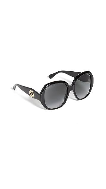 Gucci GG 醋酸纤维塑料八角形太阳镜