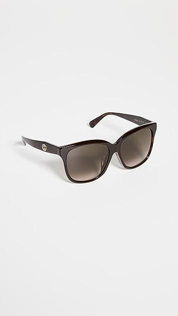 Gucci GG Acetate Oversized Square Sunglasses