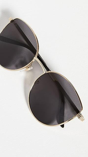 Gucci 浅金属色女士猫眼太阳镜