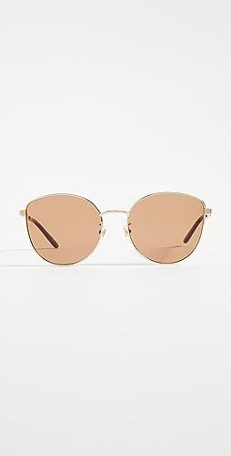 Gucci - 浅金属色女士猫眼太阳镜