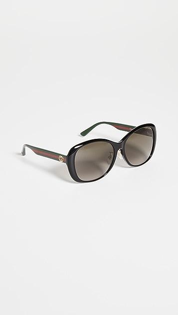 Gucci Sylvie 女性圆形太阳镜