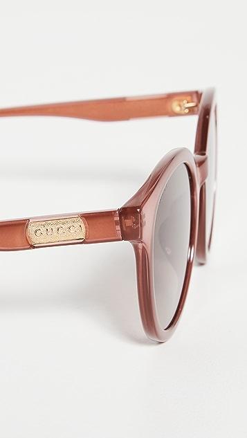 Gucci Wirecore 圆框太阳镜