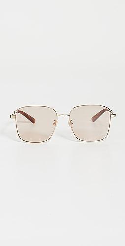 Gucci - Vintage Web Oversized Square Sunglasses
