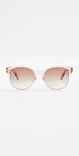Gucci - Pop Web Round Cat Eye Sunglasses