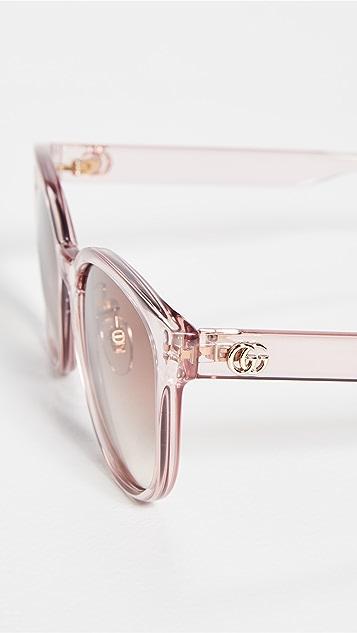 Gucci Pop Web Round Cat Eye Sunglasses