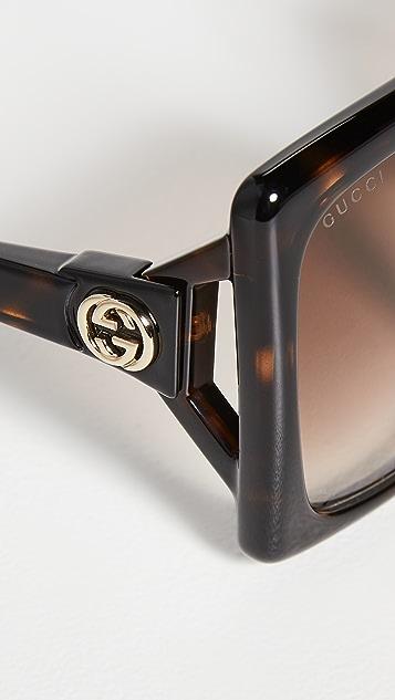 Gucci 大号方框太阳镜