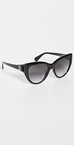 Gucci - Classic Cat Eye Sunglasses