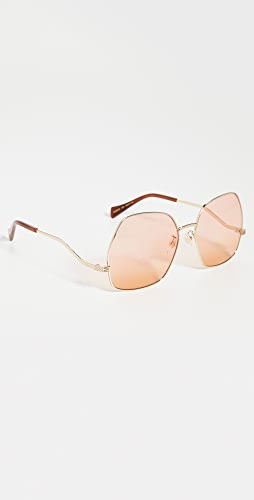 Gucci - Metal Wave 70's Sunglasses