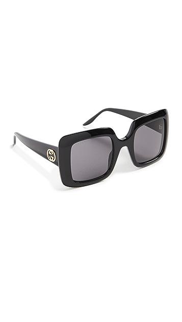 Gucci 超大方框太阳镜