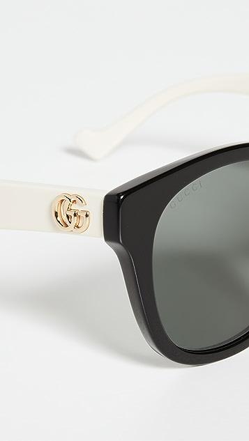 Gucci Oversized Round Sunglasses