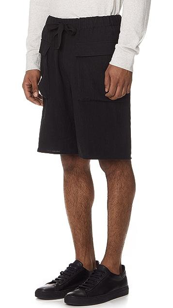 Gustav Von Aschenbach The Patch Pocket Linen Shorts