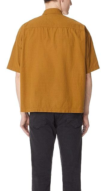 Gustav Von Aschenbach The Chest Pocket Short Sleeve Cotton Shirt