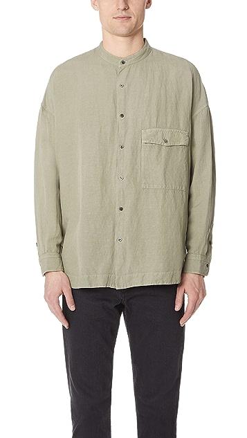 Gustav Von Aschenbach The Linen Chest Pocket Long Sleeve Shirt