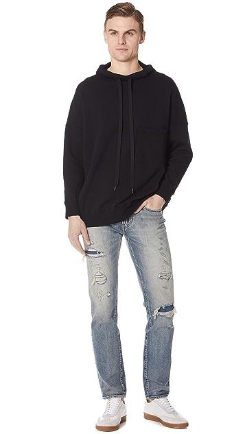 Gustav Von Aschenbach The Chest Pocket Hooded Sweatshirt