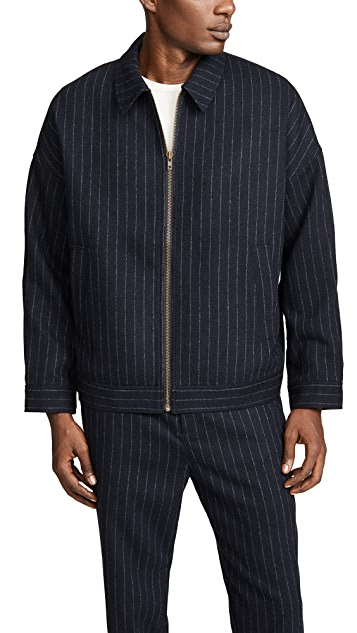 Gustav Von Aschenbach Striped Light Tweed Jacket