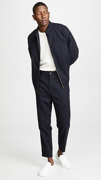 Gustav Von Aschenbach Striped Light Tweed Trousers