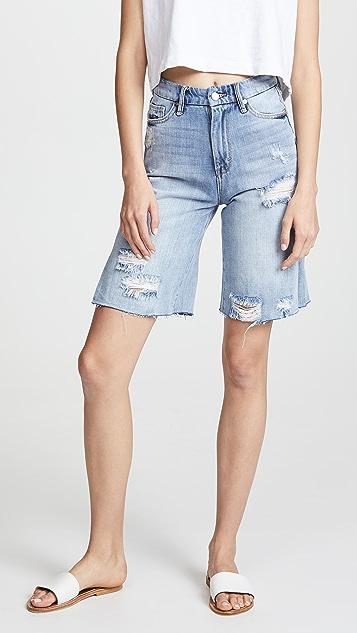 Habitual High Rise Bermuda Shorts - Varnish