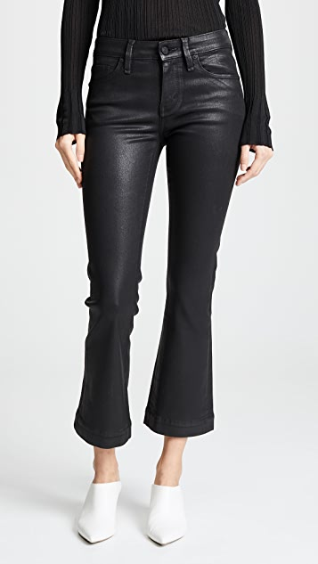 Kaira Ankle Semi Flare Coated Jeans