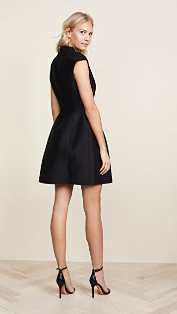 Halston Heritage Cap Sleeve Structured Dress