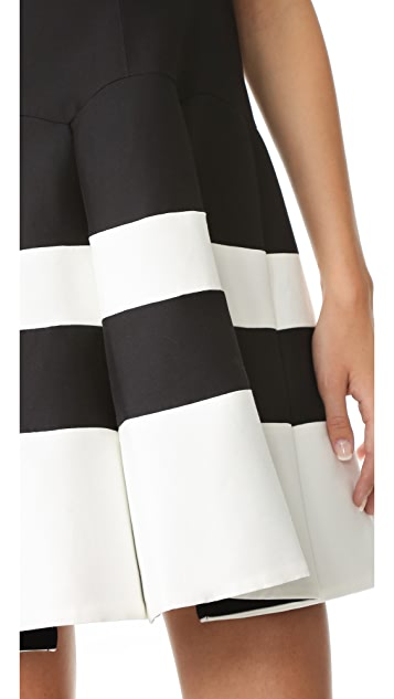 Halston Heritage Colorblock Structured Dress