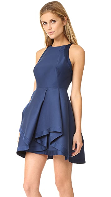 Halston Heritage High Neck Structured Dress
