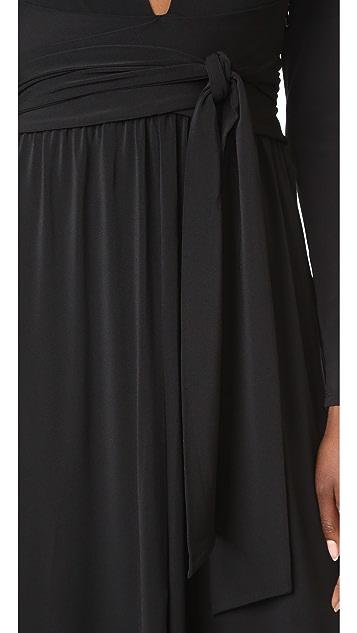 Halston Heritage V Neck Gown