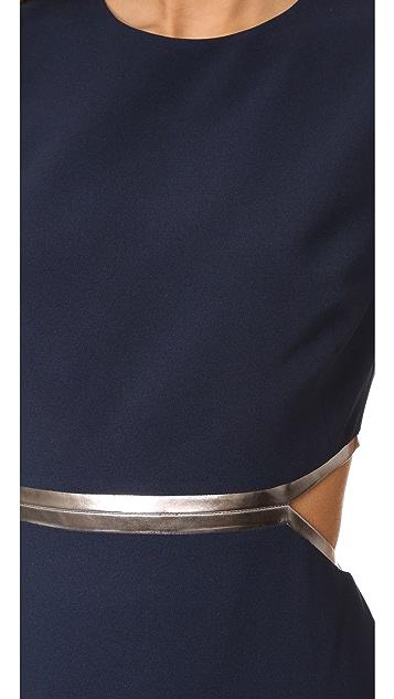 Halston Heritage Gown with Metallic Detail