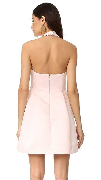 Halston Heritage Halter Neck Draped Dress