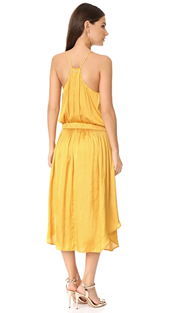 Halston Heritage Shirred Midi Dress