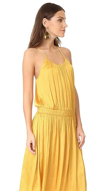 Halston Heritage Shirred Midi Dress