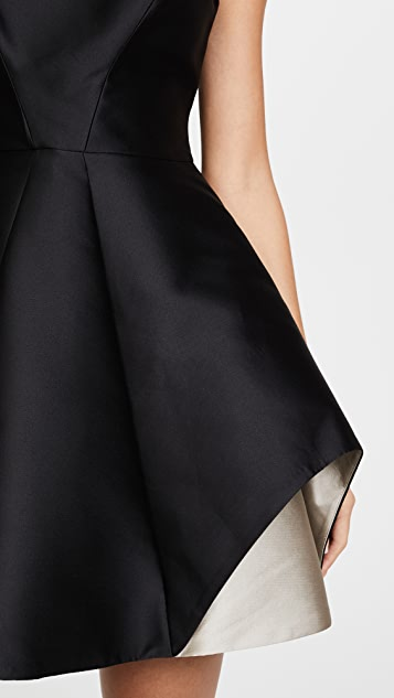 Halston Heritage Cap Sleeve Colorblock Dress
