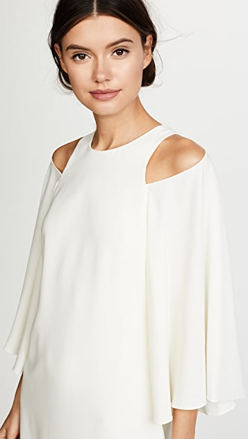 Halston Heritage Bell Sleeve Shift Dress
