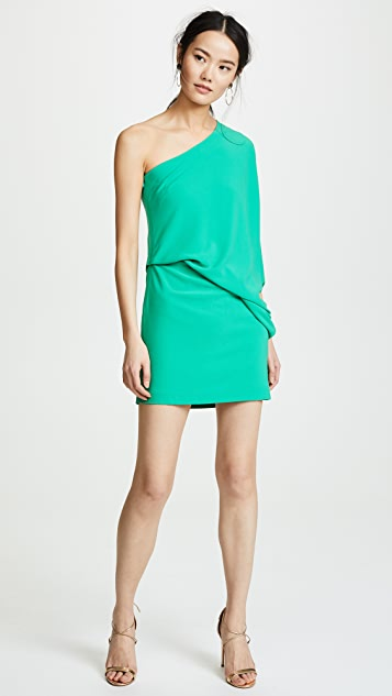 HALSTON One Shoulder Dress