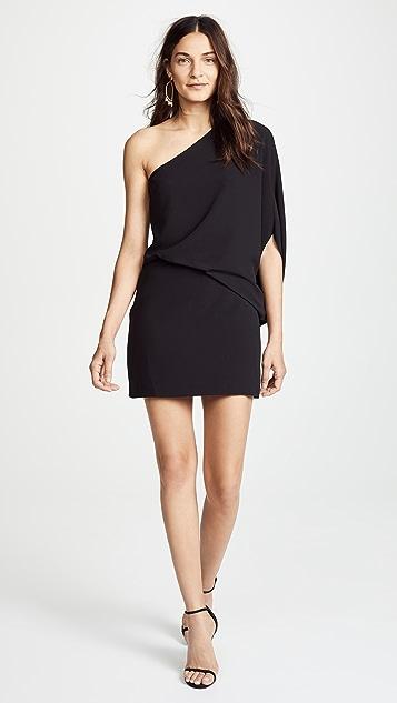 Halston Heritage One Shoulder Dress